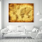 Pirate Treasure World Map Vintage Silk Canvas Poster Fabric Painting Decor 32A