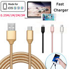 """0.8/3/6/10ft Braided Data Fast Charger Cable For Iphone 6 7 Plus Ipad Pro 10.5"""""""