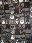 STAR WARS FORCE AWAKENS FABRIC SOLD BY METRIC FAT QUATER 50 X 56 CMS/20 X 22 INC £19.8 GBP