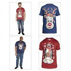 New Men's Designer Duke D555 'Jolly' Xmas Tshirt Big Sizes Music & Lights