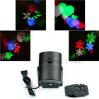 Charming Moving Sparkling LED Snowflake Landscape Laser Projector Wall Lamp Gift