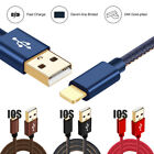 1/4/6ft Denim Braided Data Sync Charger Cable Cord For Ipod Iphone 7 Puls 6 6s 5