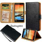 Black Flip Cover Stand Wallet Leather Case For Various Lenovo SmartPhones +Strap