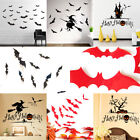 Variety Halloween Stickers Ghost Witch Bats Waterproof Decal Home Decor Paper