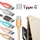 6.6FT Nylon Braided USB-C Type-C Data Charger Charging Cable Cord For Samsung S8