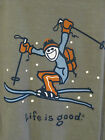 Life is Good Youth, Jake Jump Ski, Size X-Large (18-20), Moss Green