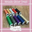 Metallic Effect Sparkling Glitter Thread 60m Metre reel - 10 Colours Available