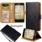 Black Flip Cover Stand Wallet Leather Case For Various Prestigio Multiphone
