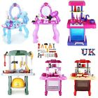 Boys Girls Kids Dressing Table Kitchen Play Set Pretend Toy Game Tools Xmas Gift