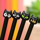 Cute Black Cat Gel Pen Cartoon Plastic Gel For Writing Office School Supplies