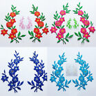 6PCS Embroidered Colorful Plum Blossom Floral Patch Iron on Appliques FT44