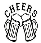 """CHEERS"" BEER MUGS Decal  Sticker 5"" X 4""   buy 2 get 1 free"