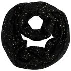 Sequin Specked Knit Infinity Winter Scarf