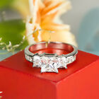 2.5 CARAT PRINCESS CUT Wedding Engagement RING White Gold Plated SIZE 6-9 Briley