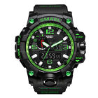 SMAEL Mens Military Sport Wrist Watch Quartz Dual Movement with Analog Digital