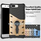Hybrid TPU&PC Dual-layer Kickstand Sniper Rugged Back Case Cover for OnePlus 5