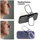 Foldable Mini Nose Clip Reading Glasses with Case 1.5 2.0 2.5 Unisex For Phone