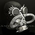 Steampunk Vintage Spike Goggles & Gas Pipe Cosplay Burning Halloween Mask