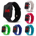 NEW Silicone LED Men Women Kids Fashion Wrist Watch Touch Digital Waterproof  image