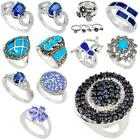 Factory direct jewelexi blue 925 sterling silver ring jewelry 5026B
