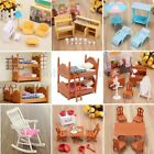 Dolls House Kitchen Living Room Bedroom Miniature Sofa Furniture Kid Gift Toy