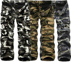 Fashion Men Winter Warm Fleece Lined Casual Army Cargo Combat Work Trousers Cozy