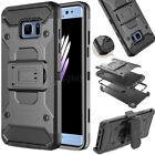 For Samsung Galaxy Note 8 Belt Clip + Shockproof Hybrid Hard Stand Case Cover