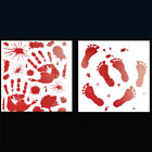 Halloween Party Window Sticker Horror Red Blood Scary Hand Feet Printed Decor