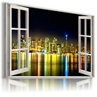 NOWY YORK CITY 3D Window View Canvas Wall Art Picture Large SIZES   W333 MATAGA