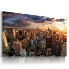 NEW YORK CITY View Canvas Wall Art Picture Large SIZES  L77  X MATAGA