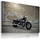 HARLEY DAVIDSON BLACK MOTOR BIKE Large Wall Canvas Picture ART  HD5 £24.64 GBP on eBay