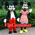 Hot Sale Mickey and Minnie Mouse Mascot Costume Adult Fancy Dress Free Ship