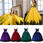 Flower Girl Birthday Wedding Gown Bridesmaid Pageant Formal Performance Dresses