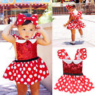 baby girl minnie mouse costume - Kids Girl Baby Toddler Minnie Mouse Polka Dot Party Costume Ballet Tutu Dress
