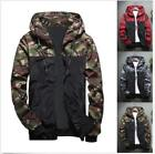 Mens Spring Fall Camouflage Coat  Fashion Hoodies Casual Sports Jacket  Outwear