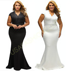 Women's Plus Size Formal Bridesmaid Cocktail EveningParty Ball Gown Long Dress