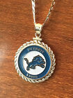 STERLING SILVER ROPE PENDANT W/ NFL DETROIT LIONS b SETTING JEWELRY GIFT on eBay