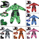 LEOPARD LEO-X19 Junior Kids Motocross Helmet Camo Race Suit Child Gloves Goggles
