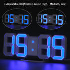 3D Dimmer LED Digital Alarm Clock USB Battery Wall Table 24/12 Hour Snooze US