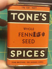 vVintage Tone's Fennel Seed spice tin great colors & graphics - Tones Spice Tin