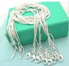 10pcs/lot 925 sterling silver Snake Chain 1mm Necklace 16 18 20 22 24""