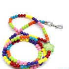 120CM high-strength Pet Dog traction rope Collar colorful beads Necklace New TN