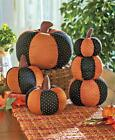 PRIMITIVE COUNTRY STUFFED HANDMADE LOOK PATCHWORK PUMPKIN FALL HOME DECOR