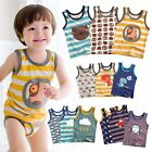 "Vaenait Baby Kids Underwear 10style Tank ""Boys 3Pcs Top Sleeveless Set"" 2T-7T"