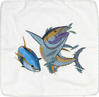 Embroidered Cushion Pillow Cover Marine Art Throw Pillow Yellowfin Tuna