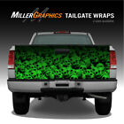 Pile of Skulls (Green) Truck Tailgate Vinyl Graphic Decal Wrap