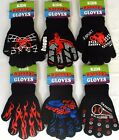 KIDS BOYS GIRLS MAGIC KNITTED MOTIF FUN GRIPPER GLOVES WARM BLACK