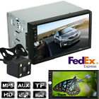 """7"""" 2 Din Car Stereo Touch Screen Bluetooth USB AUX MP5 MP3 Playe  Parking Camera"""