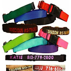 Dog Collars Personalized Custom Embroidered Name ID ~ 8 Colors & 4 Sizes