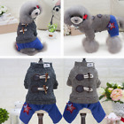 2017 Fashion Knight Casual Jumpsuit Warm Coat Puppy Small Dog Pet Winter Clothe